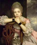 Contemplative Photos - Mrs Abington as Miss Prue in Congreves Love for Love  by Sir Joshua Reynolds