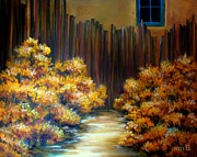 Susan Bergstrom Art - Mrs. Beckers Fence by Susan Bergstrom
