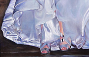 Satin Dress Painting Prints - Mrs Beetose Print by Denise H Cooperman