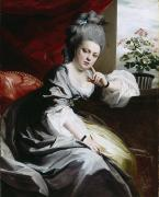 Lace Dress Prints - Mrs Clark Gayton Print by John Singleton Copley