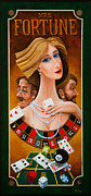 Playing Cards Painting Posters - Mrs Fortune Poster by Igor Postash