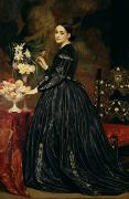 Roses Framed Prints - Mrs James Guthrie Framed Print by Frederic Leighton