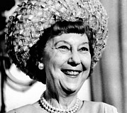 Hair Styles Posters - Mrs. Mamie Eisenhower, Widow Poster by Everett