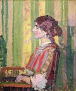 Mrs. Framed Prints - Mrs Robert Bevan Framed Print by Harold Gilman