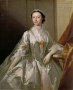 Satin Dress Painting Prints - Mrs Wardle Print by Thomas Frye
