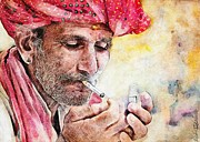 Smoker Digital Art Prints - Mr.Smoker Print by Przemyslaw Brodka