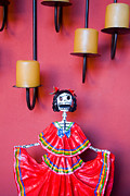 Folkart Photos - Ms. Day of the Dead by Eggers   Photography
