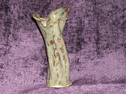 Stoneware Paintings - MS Mud Vase by Sheri Hubbard
