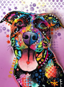 Dog Art Painting Metal Prints - Ms. Understood Metal Print by Dean Russo
