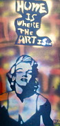 Tea Party Paintings - Ms.Monroe by Tony B Conscious