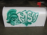 Michigan State Originals - MSU mascot mailbox by Katy Kerr