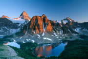 Assiniboine Art - Mt Assiniboine and Sunburst Peak by David Nunuk