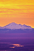 Mt Baker Prints - Mt. Baker And Fraser Valley Print by Christopher Kimmel