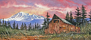 Barn Print Framed Prints - Mt. Baker Dawn Framed Print by James Williamson