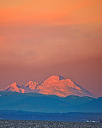 Mt Baker Prints - Mt Baker from Edmonds Harbor Print by Alvin Kroon