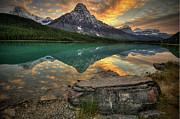 Mt Chephren Sunset Print by Howard Kilgour
