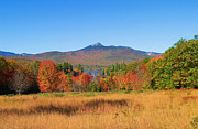 Mt Chocorua Posters - Mt. Chocorua Autumn 2 Horizontal Poster by Larry Landolfi