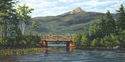 Bridge Painting Originals - Mt. Chocorua by Elaine Farmer