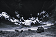 Walnut Tree Photograph Framed Prints - Mt. Diablo under cloud attack. Framed Print by Laszlo Rekasi