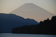Fuji Framed Prints - Mt. Fuji In Silhouette Framed Print by Gregor