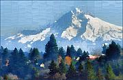 Mt Hood Prints - Mt. Hood  Print by Margaret Hood