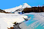 Mt Hood Digital Art - Mt Hood by Michael Bartlett