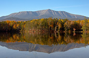 Mt. Katahdin Framed Prints - Mt Katahdin Baxter State Park Fall 1 Framed Print by Glenn Gordon