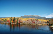 Mt. Katahdin Framed Prints - Mt. Katahdin Fall Glory Framed Print by Joyce Huhra