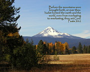Mt Mclaughlin Psalm 90 Print by Cindy Wright