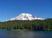 Mt. Rainier At Reflection Lake Print by Charles Robinson