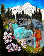 Forest Pyrography Originals - Mt. Rainier National Park by Mike Holder