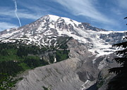 Mt Rainier National Park Prints - Mt Rainier Nisqually Vista Print by Angie Vogel