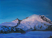 The Blue Face Paintings - Mt Rainier Sunrise by Aura Petersen