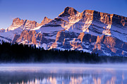 Rundle Prints - Mt Rundle Print by Ginevre Smith