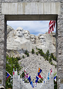 Abe Lincoln Photo Posters - Mt Rushmore Entrance Poster by Jon Berghoff