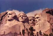 4th July Digital Art Posters - Mt. Rushmore Poster by Jerry Hellinga