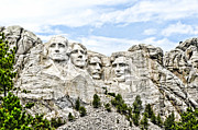 Teddy Roosevelt Posters - Mt Rushmore Poster by Jon Berghoff