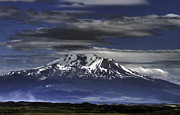 Geography Digital Art Originals - Mt Shasta by Dawn Reamey
