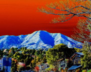 Marin County Digital Art Posters - Mt Tamalpais from Another World Poster by Ben Upham