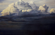 Albuquerque Paintings - Mt. Taylor Storm by Jack Atkins