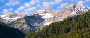 Panorama Mountain Images Prints - Mt. Timpanogos in the Wasatch Mountains of Utah Print by Utah Images