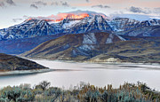 Deer Posters - Mt. Timpanogos Winter Sunrise Poster by Gary Whitton