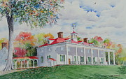 Politicians  Painting Originals - Mt. Vernon in the Fall by Tom Harris