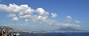 Panoramic Ocean Originals - Mt Vesuvisus and the Bay of Naples. by Terence Davis