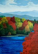 Saco River Framed Prints - MT Washington from the Saco River Framed Print by Paul Gaj