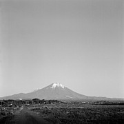 Black And White Rural Photography Prints - Mt.daisen Print by Haribote.nobody