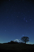 Winter Night Photos - Mt.fuji In Winter by Takeshi.K
