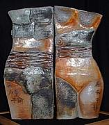 Woman Ceramics Originals - Mu Gong And Xi Wang Mu by Nancy Pirri