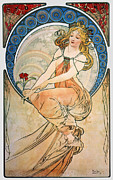 Lithograph Framed Prints - Mucha: Poster, 1898 Framed Print by Granger