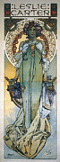 Theater Actress Photo Prints - Mucha: Theatrical Poster Print by Granger